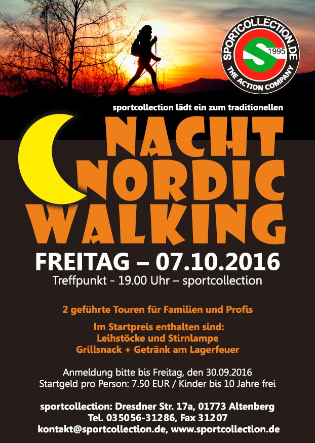 Nacht Nordic Walking